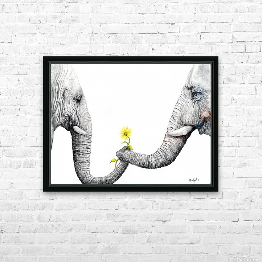 Up Close You Are More Wrinkly Than I Remember  HD Sublimation Metal print with Decorating Float Frame (BOX)