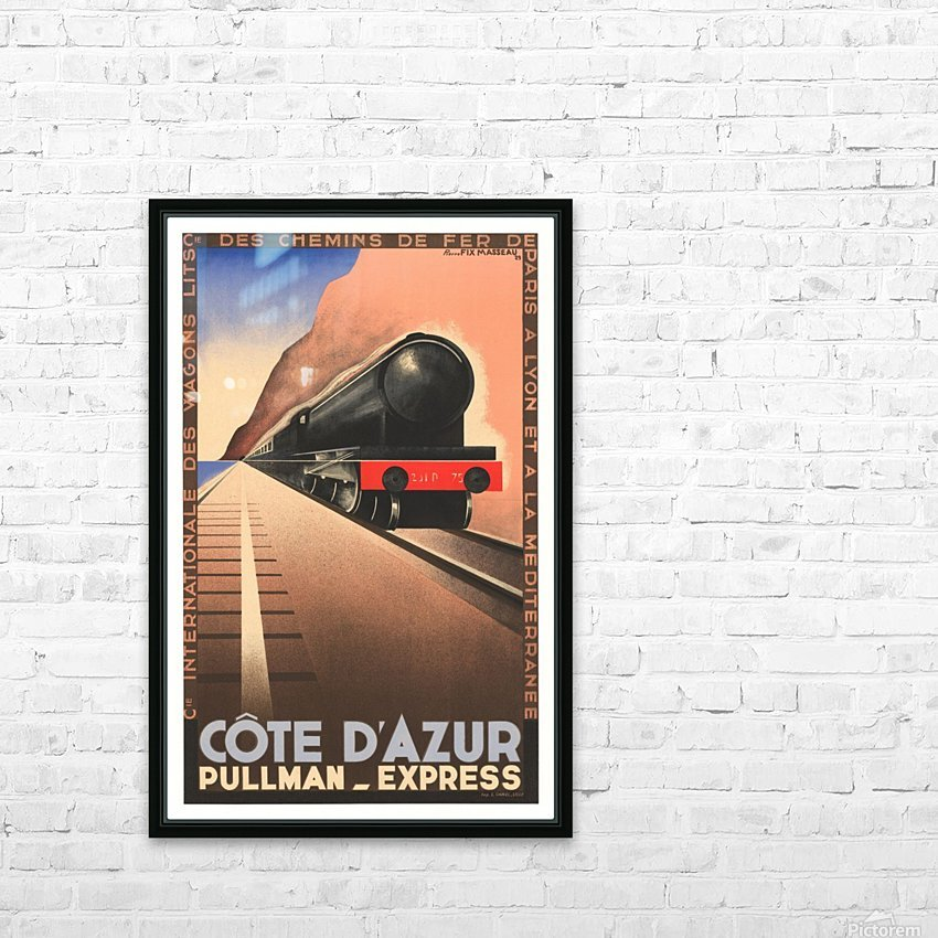 Cote D'Azur Pullman Express HD Sublimation Metal print with Decorating Float Frame (BOX)