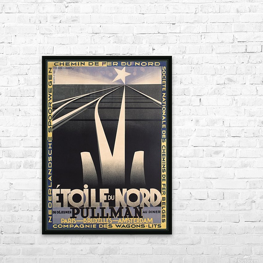 Etoile du Nord HD Sublimation Metal print with Decorating Float Frame (BOX)