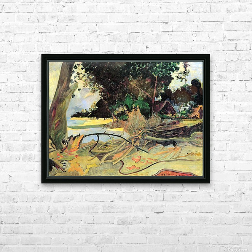 Te Burao by Gauguin HD Sublimation Metal print with Decorating Float Frame (BOX)