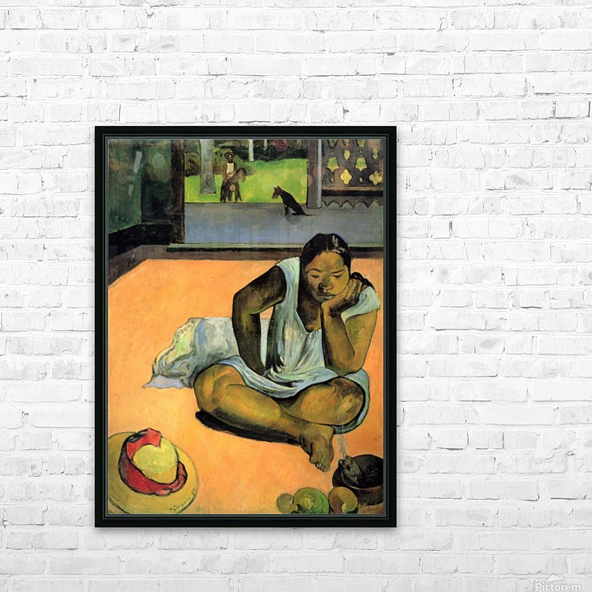 Te Faaturama by Gauguin HD Sublimation Metal print with Decorating Float Frame (BOX)