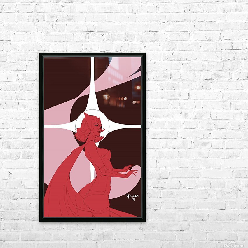 Scarlet Witch Flats HD Sublimation Metal print with Decorating Float Frame (BOX)
