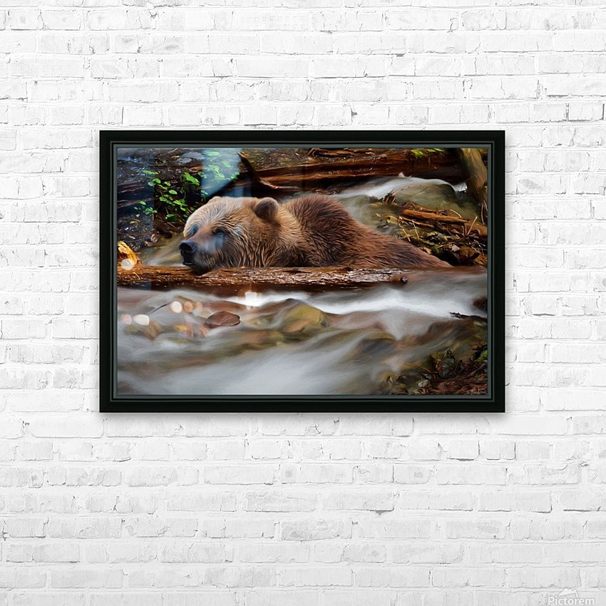 Never Give Up - Wilderness Art by Jordan Blackstone HD Sublimation Metal print with Decorating Float Frame (BOX)