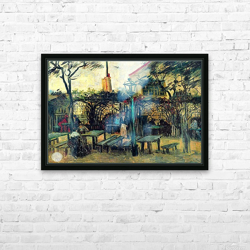 Terrace of a Cafe by Van Gogh HD Sublimation Metal print with Decorating Float Frame (BOX)