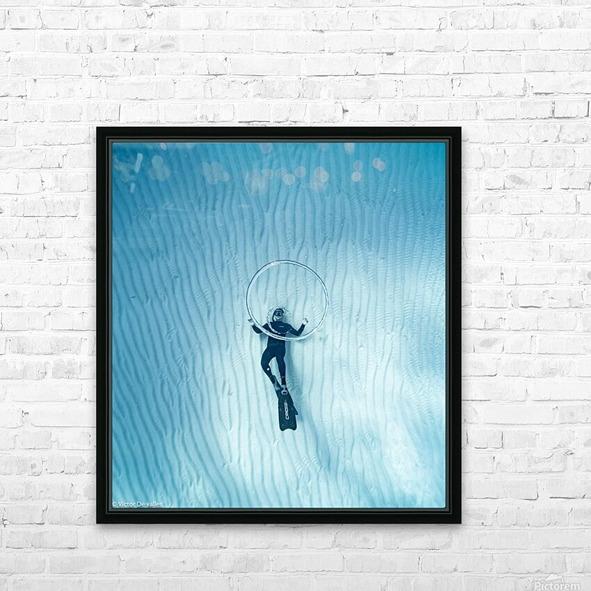 diver 3 HD Sublimation Metal print with Decorating Float Frame (BOX)