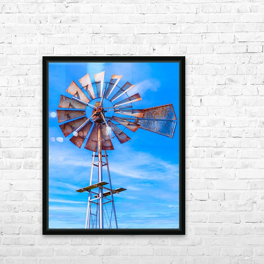 Uncle Sams Windmill HD Sublimation Metal print with Decorating Float Frame (BOX)