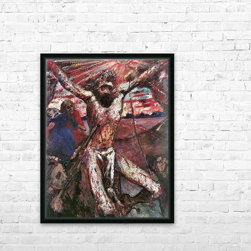 Red Christ by Lovis Corinth HD Sublimation Metal print with Decorating Float Frame (BOX)