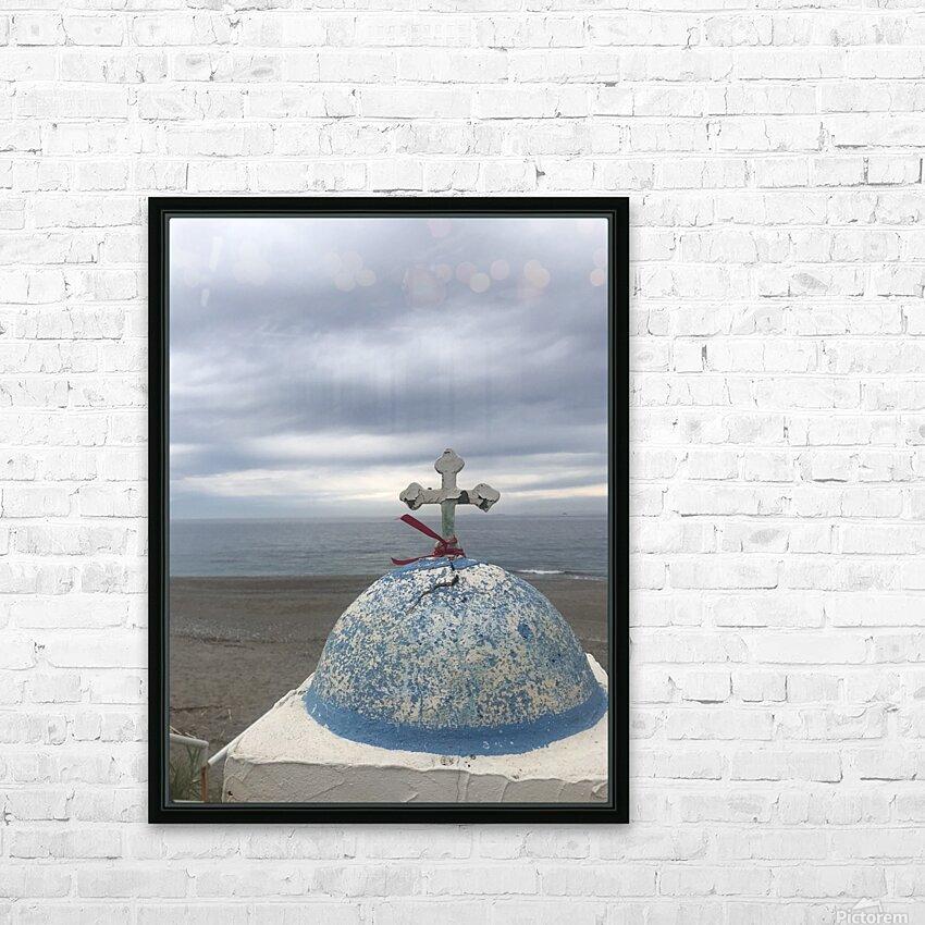 Greece Evia island Mourteri HD Sublimation Metal print with Decorating Float Frame (BOX)