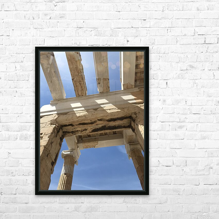 Acropolis of Athens Greece HD Sublimation Metal print with Decorating Float Frame (BOX)