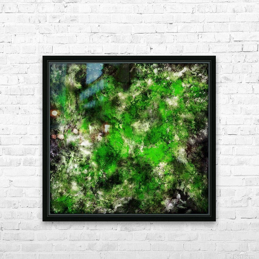 Green noise HD Sublimation Metal print with Decorating Float Frame (BOX)
