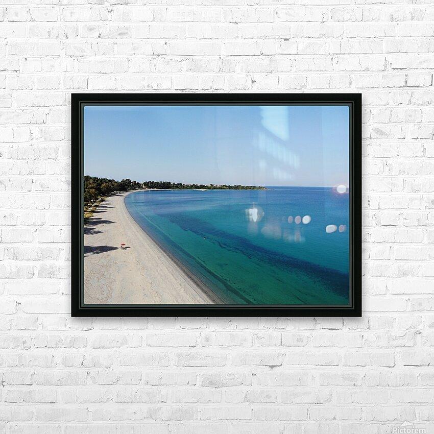 Greece coast near Lefkada HD Sublimation Metal print with Decorating Float Frame (BOX)