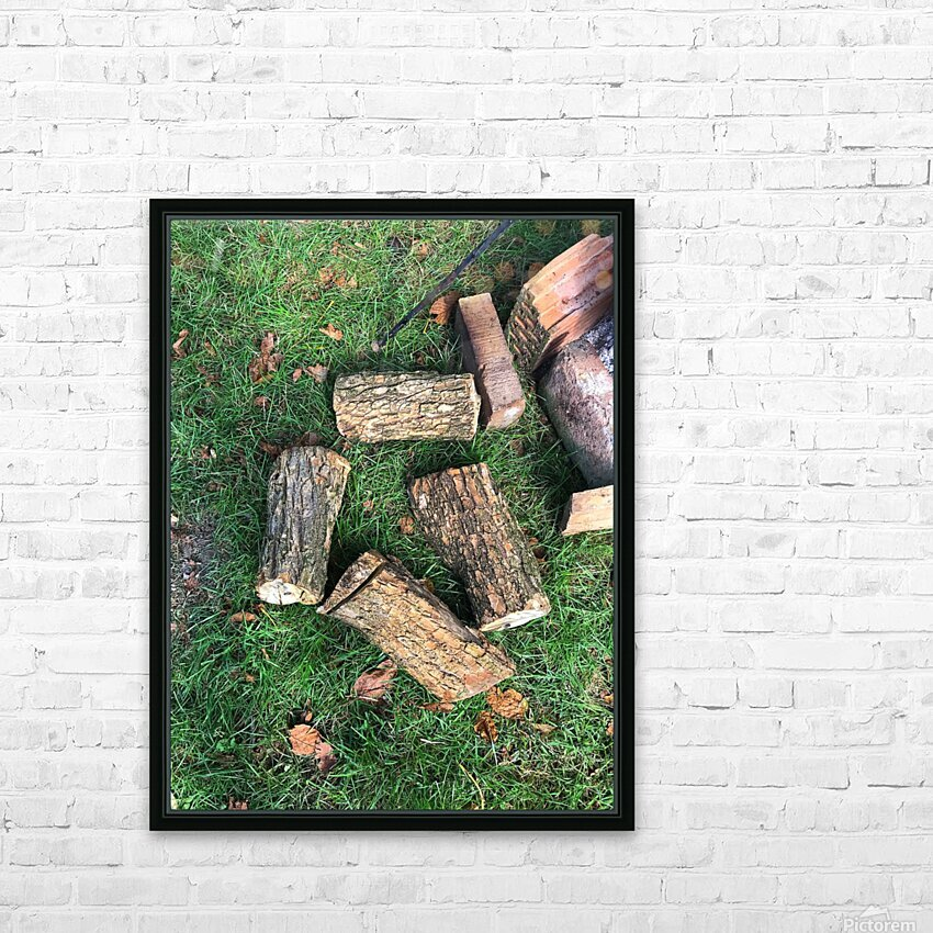 wood for fire HD Sublimation Metal print with Decorating Float Frame (BOX)