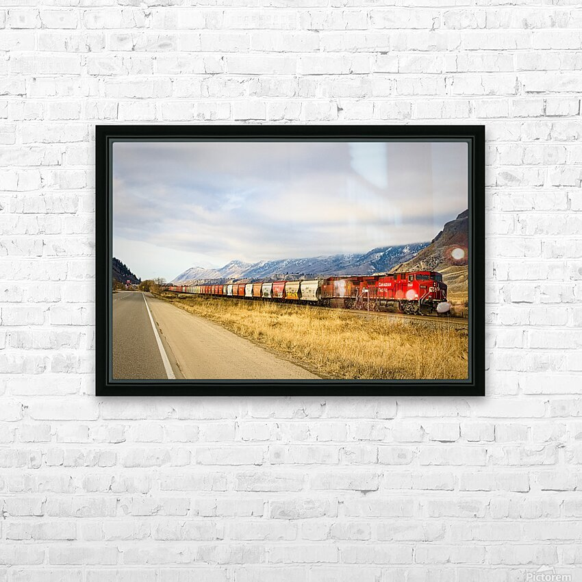 Great Canadian Railroad HD Sublimation Metal print with Decorating Float Frame (BOX)