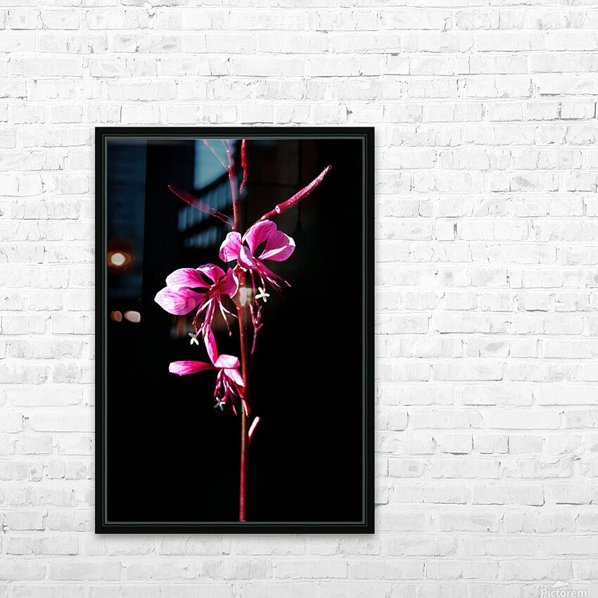 Love Flower HD Sublimation Metal print with Decorating Float Frame (BOX)