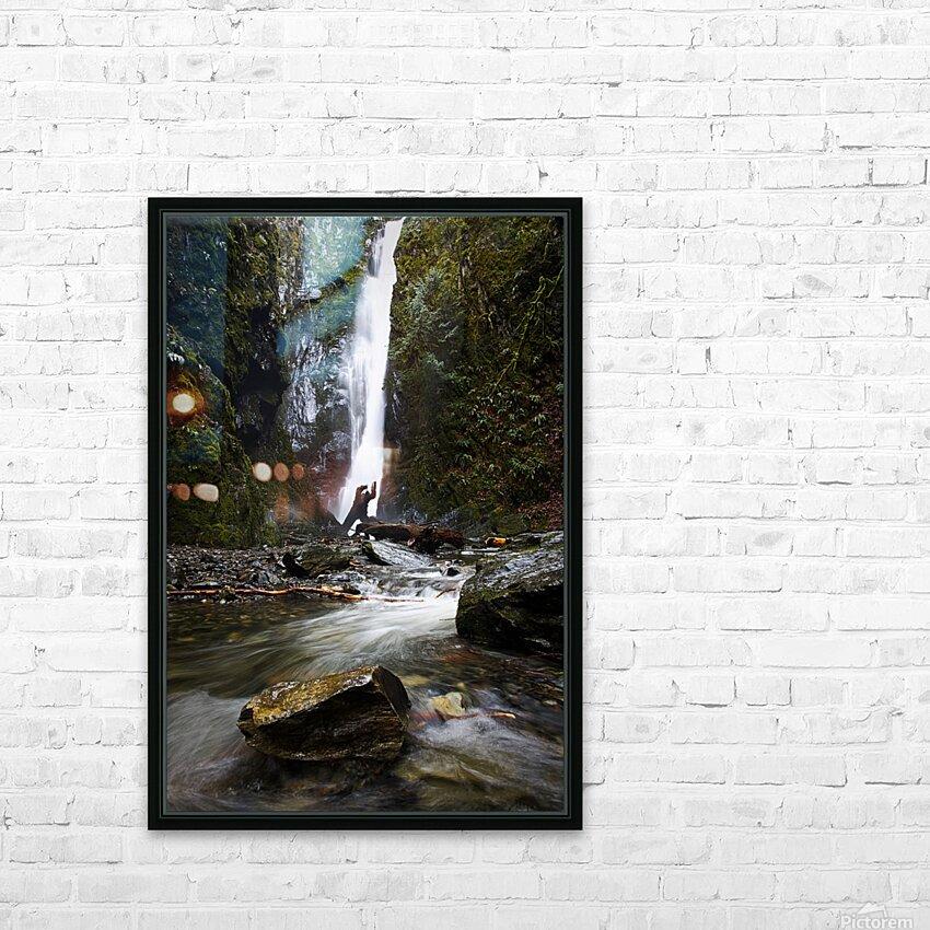 Niagara Falls HD Sublimation Metal print with Decorating Float Frame (BOX)