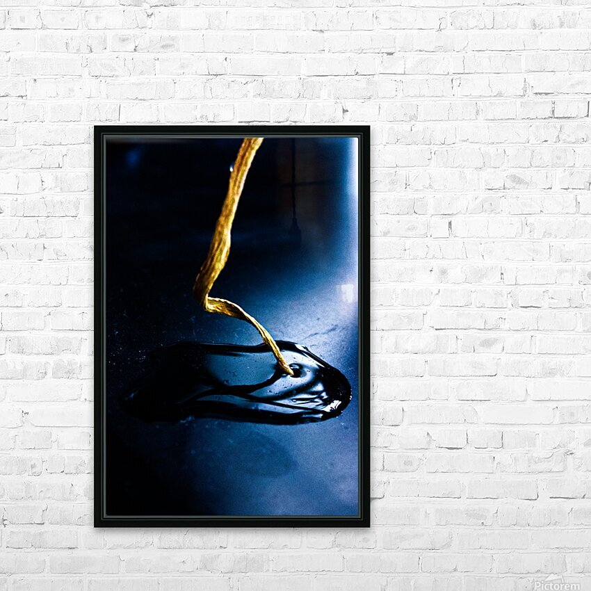 Gentle Blue Touch HD Sublimation Metal print with Decorating Float Frame (BOX)