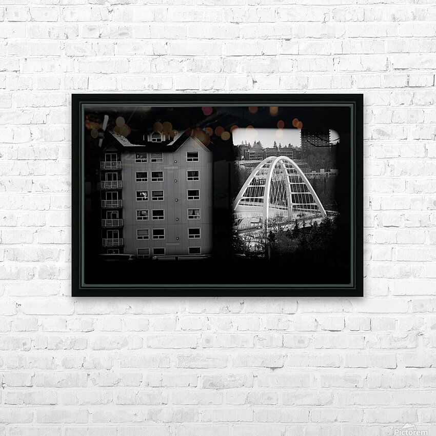 Building and Bridge HD Sublimation Metal print with Decorating Float Frame (BOX)