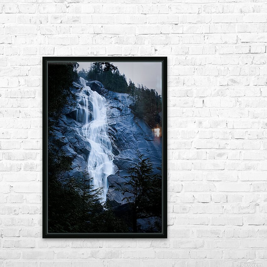 Blue Falls HD Sublimation Metal print with Decorating Float Frame (BOX)