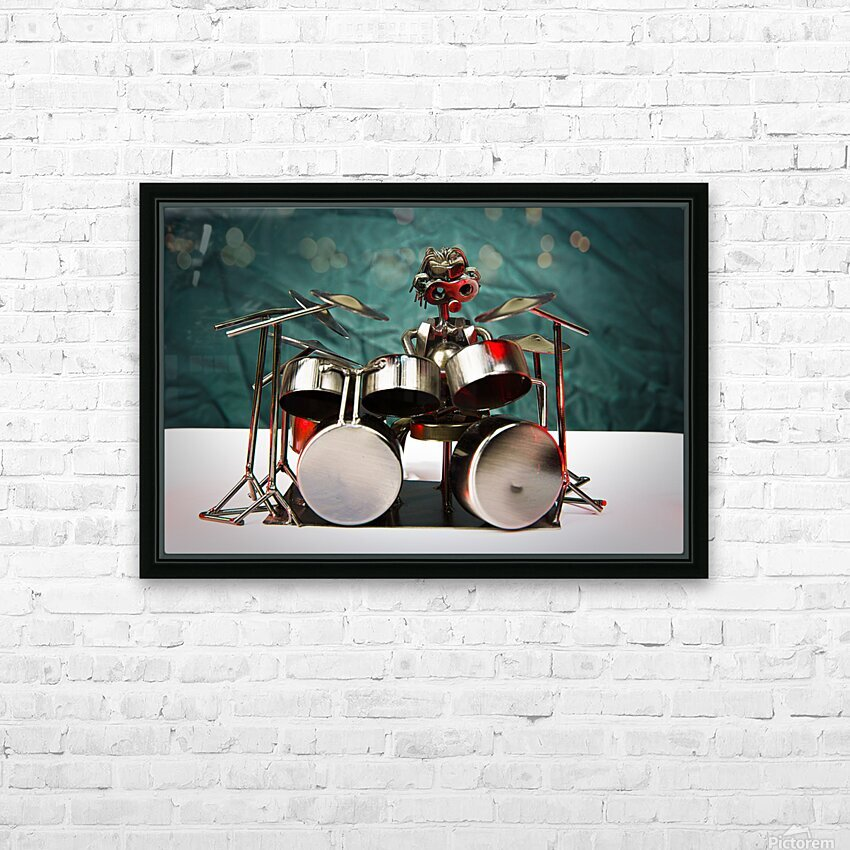 Nuthead on the Drums HD Sublimation Metal print with Decorating Float Frame (BOX)