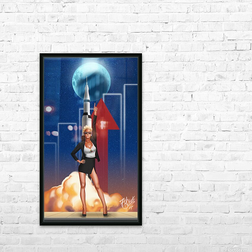 TO THE MOON HD Sublimation Metal print with Decorating Float Frame (BOX)