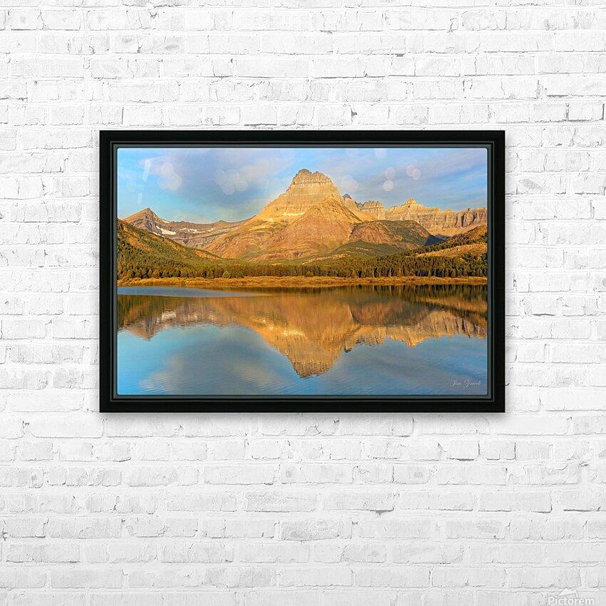 Glacier National Park Montana HD Sublimation Metal print with Decorating Float Frame (BOX)