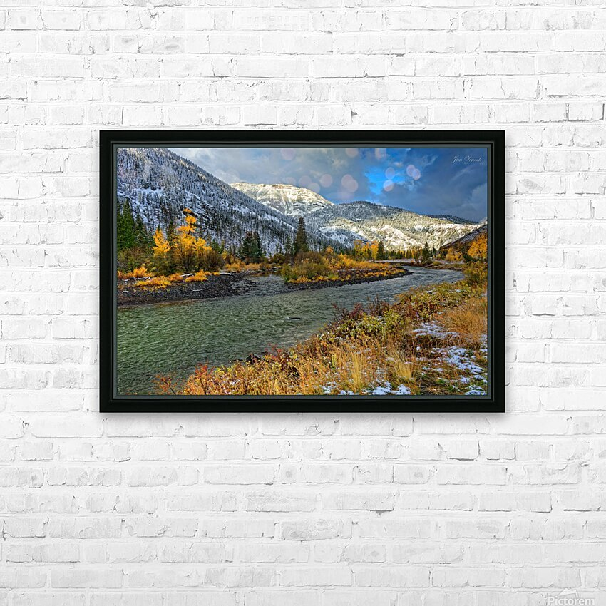 Yellowstone National Park HD Sublimation Metal print with Decorating Float Frame (BOX)