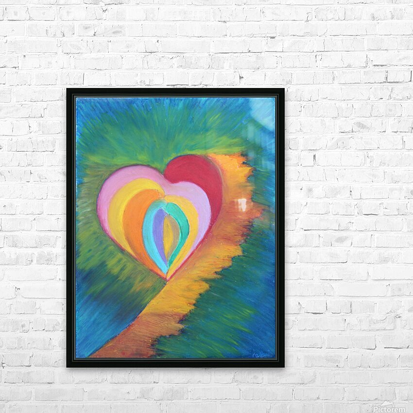Heart HD Sublimation Metal print with Decorating Float Frame (BOX)