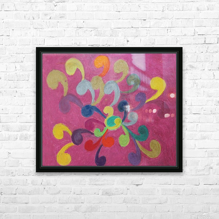 Pink Abstract HD Sublimation Metal print with Decorating Float Frame (BOX)