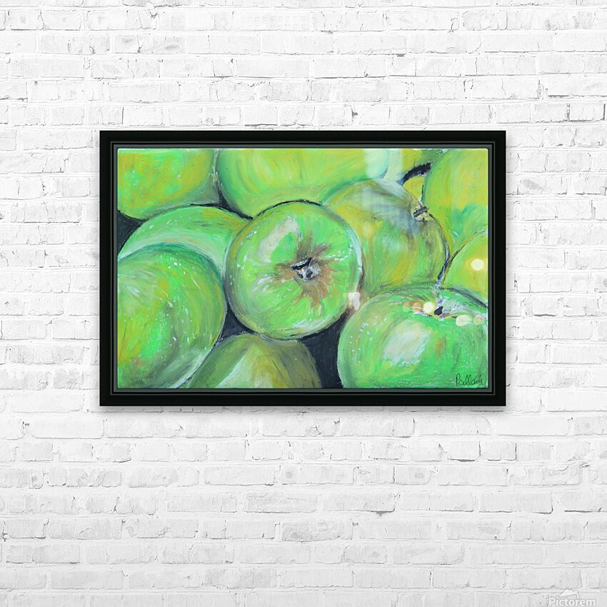 Apples HD Sublimation Metal print with Decorating Float Frame (BOX)