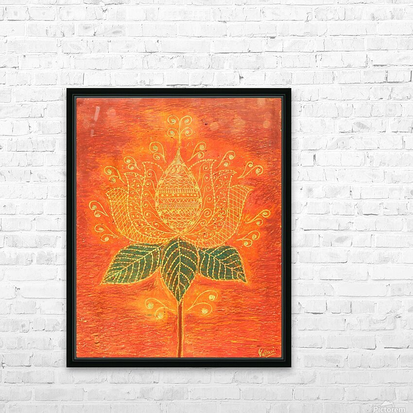 Lotus HD Sublimation Metal print with Decorating Float Frame (BOX)
