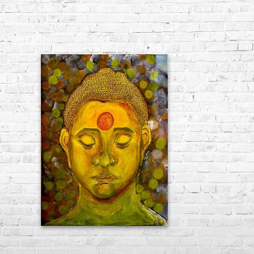 buddha HD Sublimation Metal print with Decorating Float Frame (BOX)