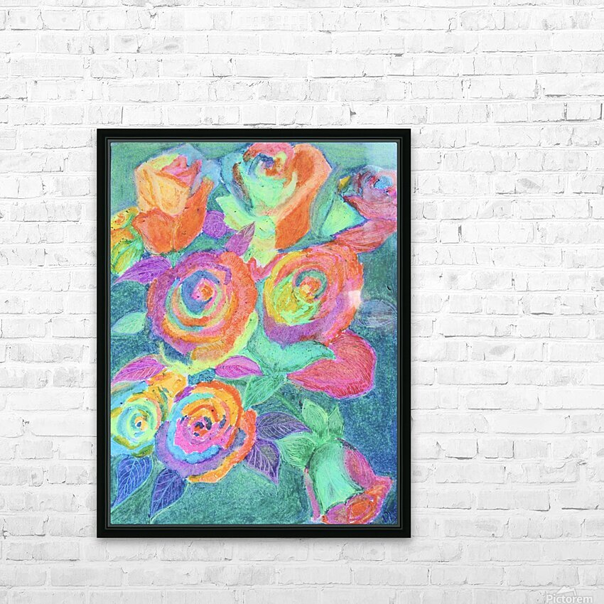 Colorful flowers HD Sublimation Metal print with Decorating Float Frame (BOX)