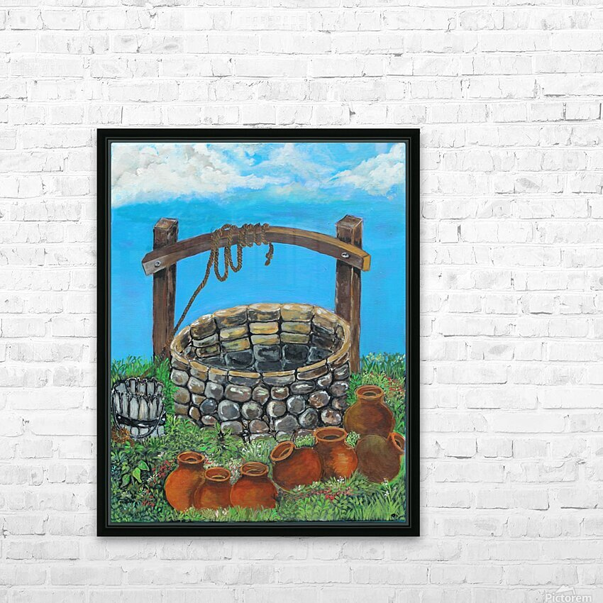 A lonely well HD Sublimation Metal print with Decorating Float Frame (BOX)