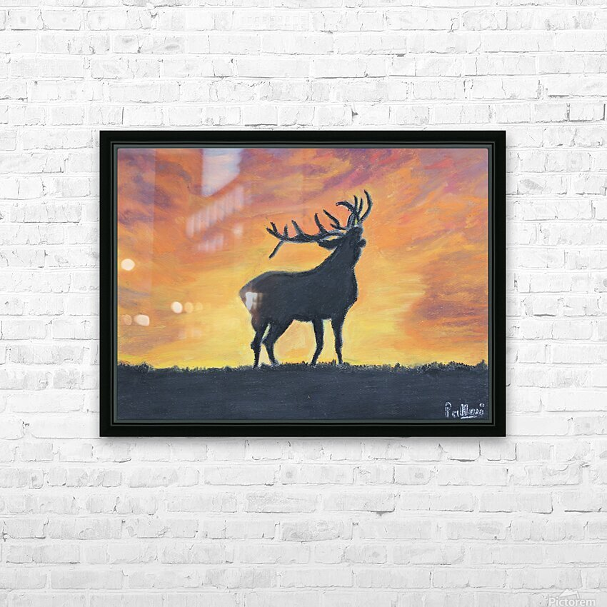 reindeer HD Sublimation Metal print with Decorating Float Frame (BOX)