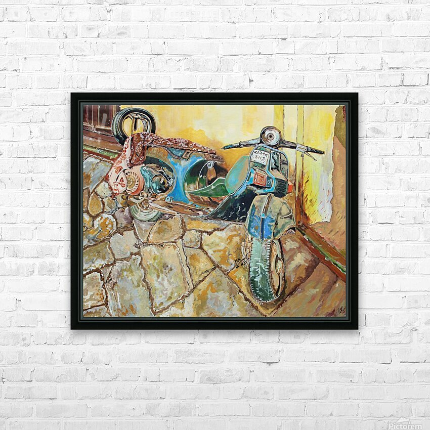 Scooter HD Sublimation Metal print with Decorating Float Frame (BOX)