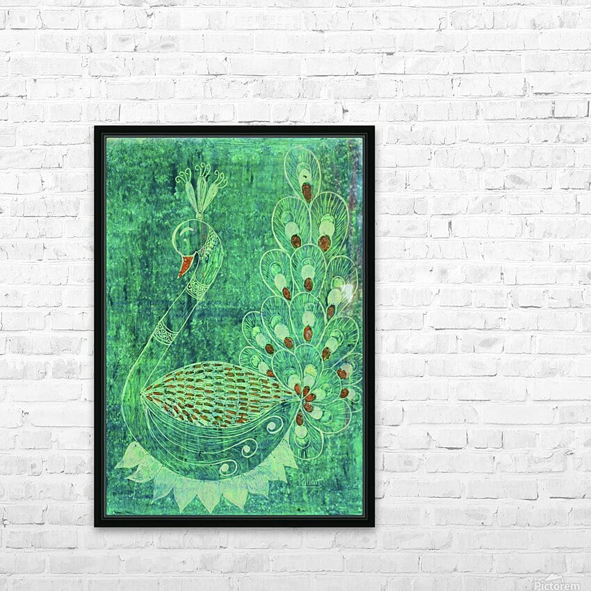 Peacock HD Sublimation Metal print with Decorating Float Frame (BOX)