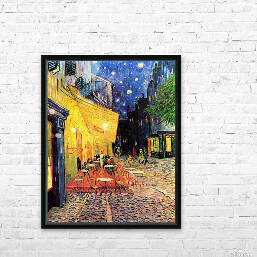 The Cafe Terrace on the Place du Forum Arles at Night by Van Gogh HD Sublimation Metal print with Decorating Float Frame (BOX)