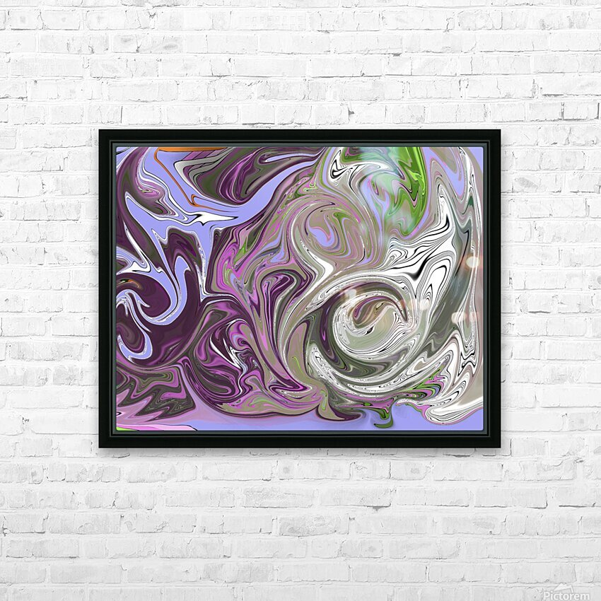 Number 16 Pour HD Sublimation Metal print with Decorating Float Frame (BOX)