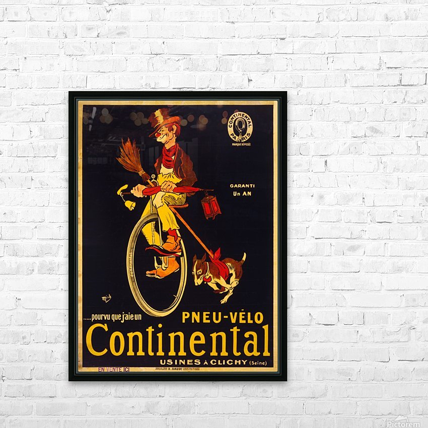 Pneu velo continental HD Sublimation Metal print with Decorating Float Frame (BOX)
