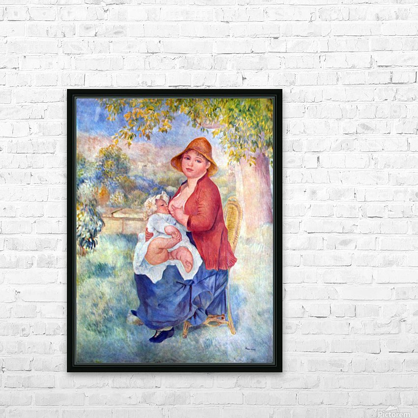 The child at the chest maternity by Renoir HD Sublimation Metal print with Decorating Float Frame (BOX)