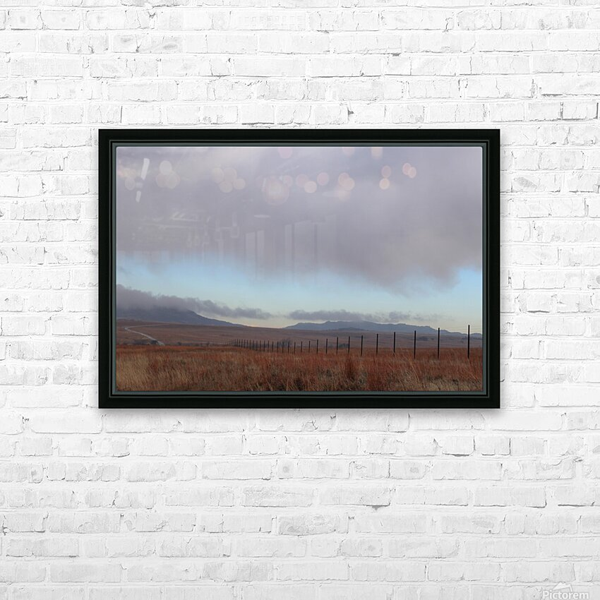 Fence HD Sublimation Metal print with Decorating Float Frame (BOX)