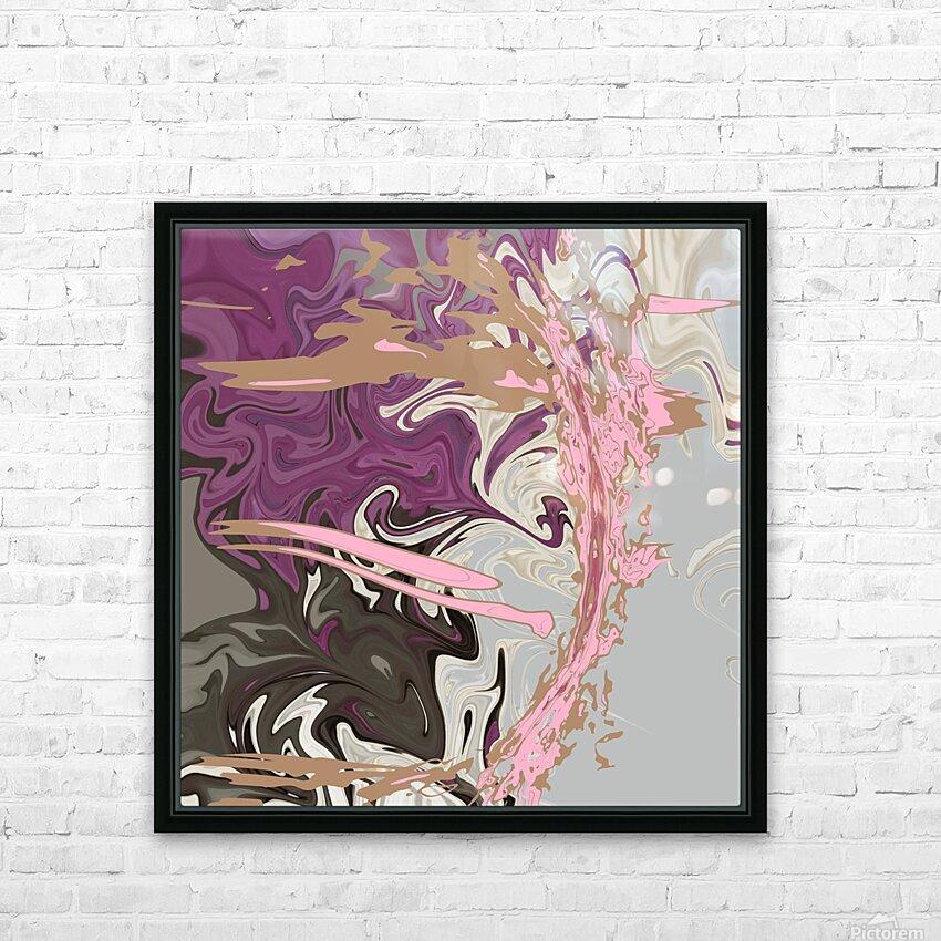 Art Nouveau Pour HD Sublimation Metal print with Decorating Float Frame (BOX)