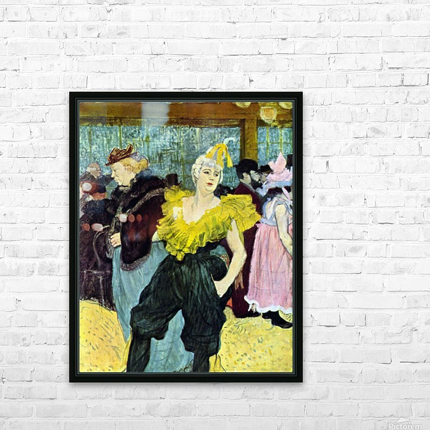 The clowness by Toulouse-Lautrec HD Sublimation Metal print with Decorating Float Frame (BOX)