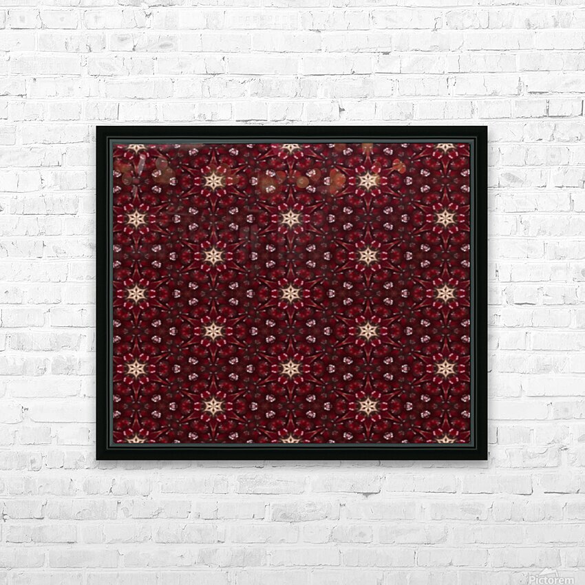 pomegranate HD Sublimation Metal print with Decorating Float Frame (BOX)