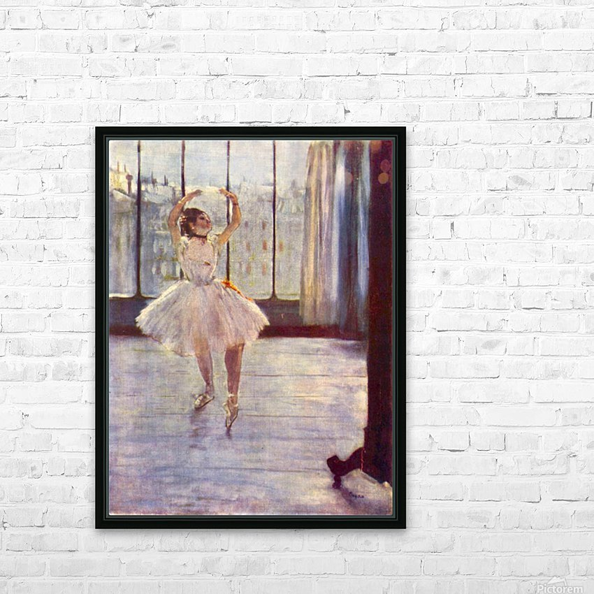 The dancer at the photographer by Degas HD Sublimation Metal print with Decorating Float Frame (BOX)