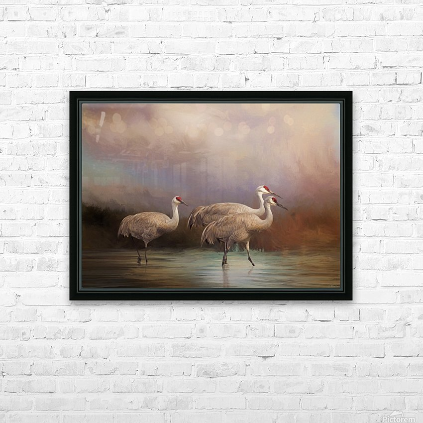 Family - Bird Art HD Sublimation Metal print with Decorating Float Frame (BOX)