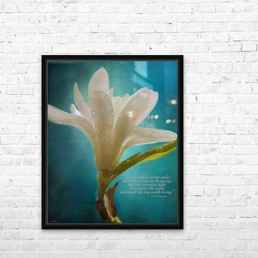 Like Morning Light - Flower Art by Jordan Blackstone HD Sublimation Metal print with Decorating Float Frame (BOX)