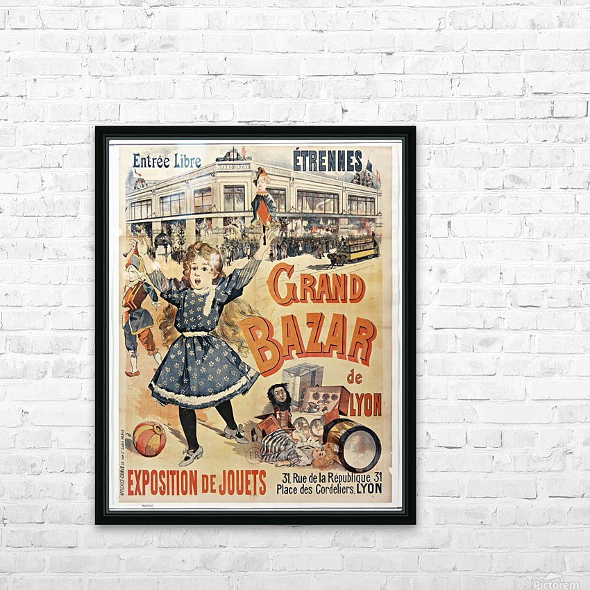 Grand Bazar HD Sublimation Metal print with Decorating Float Frame (BOX)