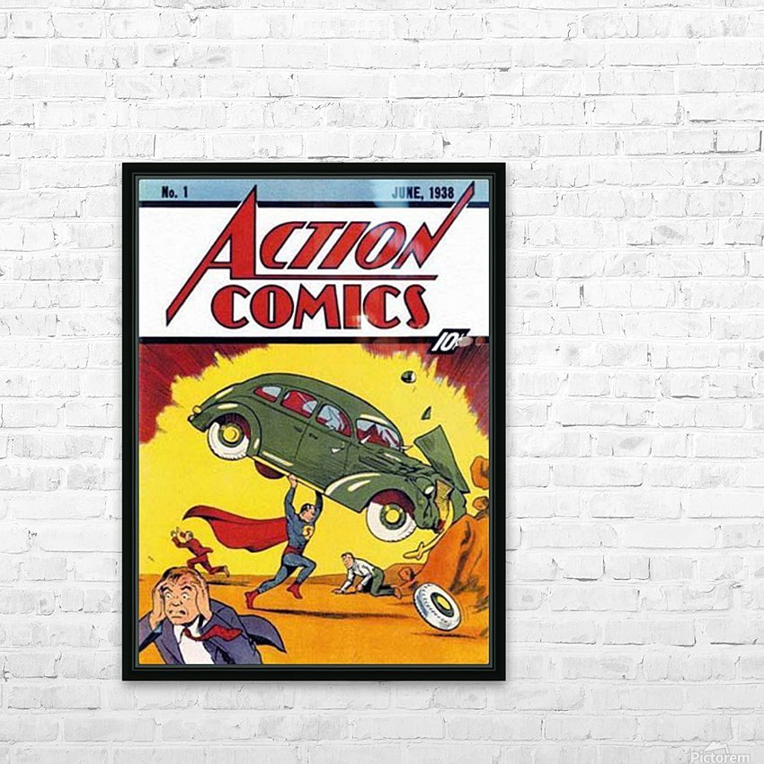 Action Comics HD Sublimation Metal print with Decorating Float Frame (BOX)