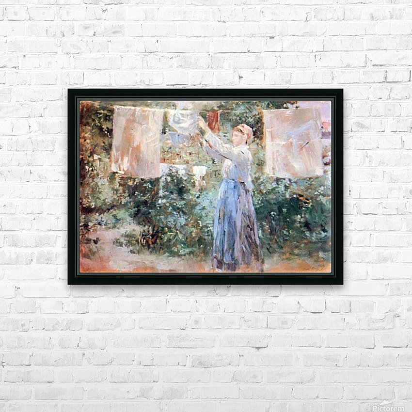 The farmer hanging laundry by Morisot HD Sublimation Metal print with Decorating Float Frame (BOX)
